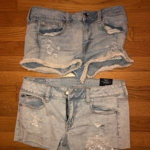 two american eagle jean shorts